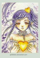 glowing heart - ACEO Nr. 107 by Apfelkeks