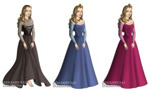 Princess Aurora (Sleeping Beauty) outfits by sarasarit