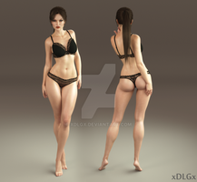 My Lara Croft (Iray) by xDLGx