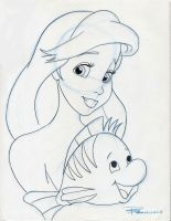 Ariel and Flounder by Anime-Ray