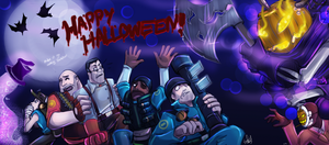 TF2: Happy Halloween by DarkLitria