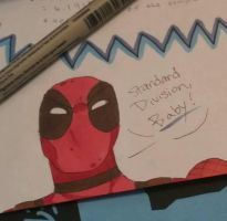 Deadpool Math Doodle by GoingMadHatter