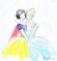 Snow White and Cinderella by MalicaBlacke