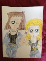 Jenelle and Tea in Yugi's Clothes by Camilia-Chan