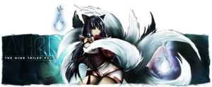 Ahri Signature (Popout) by lolSmokey