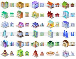 Desktop Building Icons by ahasofticons