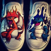 Blastoise Charizard Custom Shoes by Kyg0n