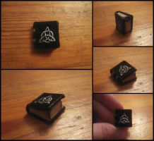 Triquetra Book OOAK by Maylar