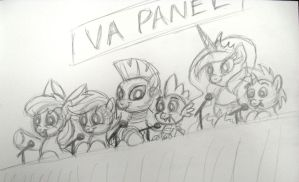 BronyCon 2013 VA panel (sketch) by AleximusPrime