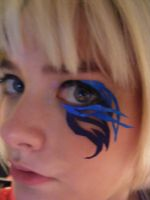 Black rock shooter inspired paper lashes by RaelXArts