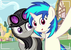 Vinyl and Octavia -selfie- by Godoffury