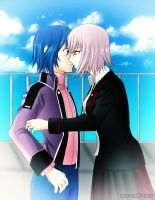 Aichi and Misaki - Surprise by xox1melly1xox