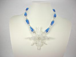 Snowflake Necklace by Lady-Blue