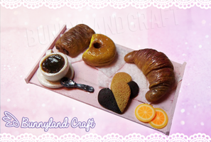 Breakfast miniature set by BunnyLandCraft