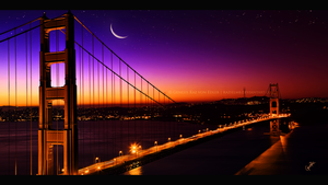 Golden Bridge by GeneRazART