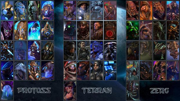 Starcraft 2 Portraits by SBlister
