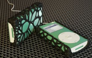 Mini ipod With Custom Grip Sleeve by LuxXeon