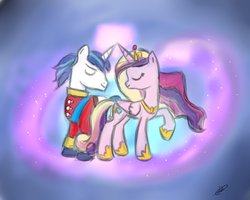 Princess Cadance and Shining Armor by PazMercury