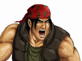 Ralf Jones from King of fighters (Ikari warriors) by AlessandroGazzoli