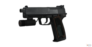 RE4 Themed USP.45 (Leon's Handgun) by sadow1213