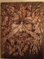 Green man, wood burn by LUKAS-87