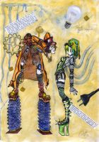 Cybergoth meets Steampunk by theromantiquedead