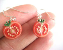 Tomato Earrings by KawaiiCulture