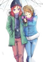 Maki and Hayano by Luqueiral