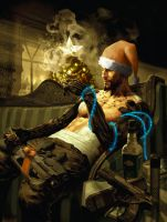 Adam Jensen Wishes You A Merry Christmas by CohenR