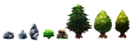 Syrah the Witch: Forest Assets by timberking