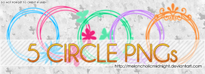 5 Circle PNGs by MelancholicMidnight