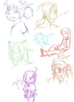 Sketches of... people? by Vixiana