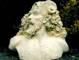 Satyr Bust by LocascioDesigns