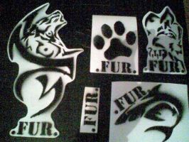 .FUR. Stencils by Zomain