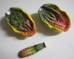 Audrey II WIP mouth detail by mostlymade