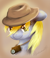 Reporter Derpy by Digital--Quill