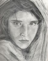 Girl With Lovely Eyes by artismylover