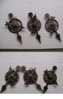 Steam Punk Clock Pendants by Katarren