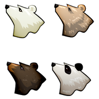 Sustainability Mascot Bears by novemberkris