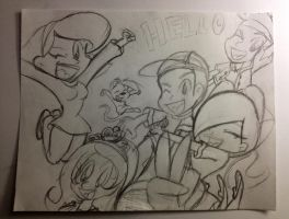 The Happy Gang's Sketch by firegirl1995