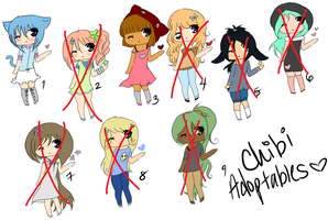 Chibi Adoptables ::50 points each:: 3 Left by I0MA