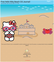 Hello Kitty Beach CSS Journal by candysores