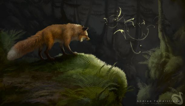 Fox painting by Noukah