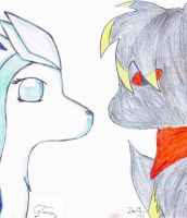 Delia and Glaceon collab by pokefan444