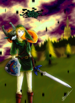 Link e Midna in Twilight Realm by 27BoB09