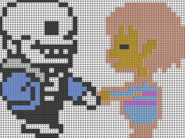 Sans and Human by madam--guillotine