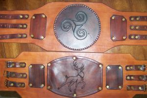 Stag Totem Celtic War Belt by axplazeboy