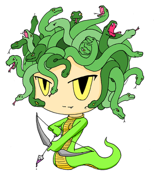 Medusa, the gorgon(Bulletin Project)
