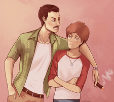 Young Sully and Nate by missxdelaney
