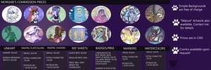 Commission Prices by Morghiesart